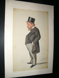Vanity Fair Print 1879 Thomas Chenery, Newpaperman